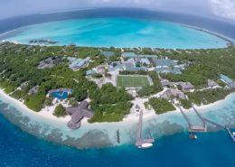 Maldives Beach Resort - Hideaway Beach Resort & Spa - Aerial View