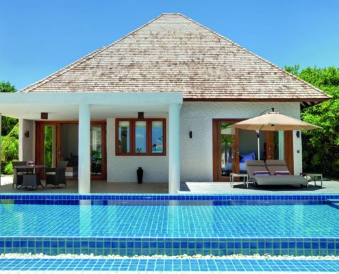 Maldives Deluxe Beach Residence with Pool - Luxury Villas Maldives - Hideaway Beach Resort