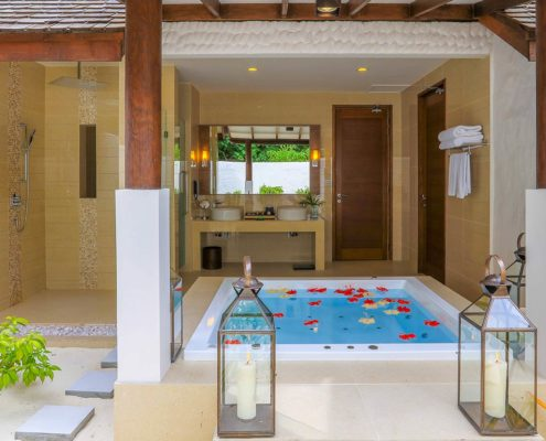 Maldives Resorts - Beach Villas - Deluxe Sunset Beach Villa with Pool - Hideaway Beach Resort & Spa