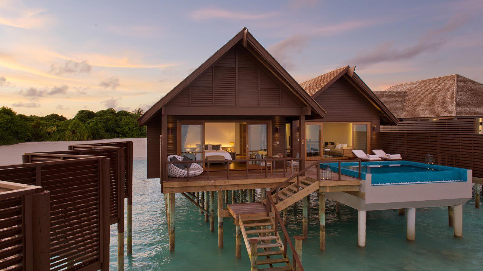 Maldives Villas - Water Villas - Ocean Villas Pool - Hideaway Beach Resort & Spa