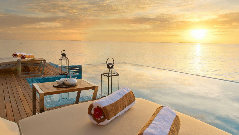 Maldives Ocean Villa - Luxury 2 Bedroom Ocean Pool Villa Maldives - Hideaway Beach Resort