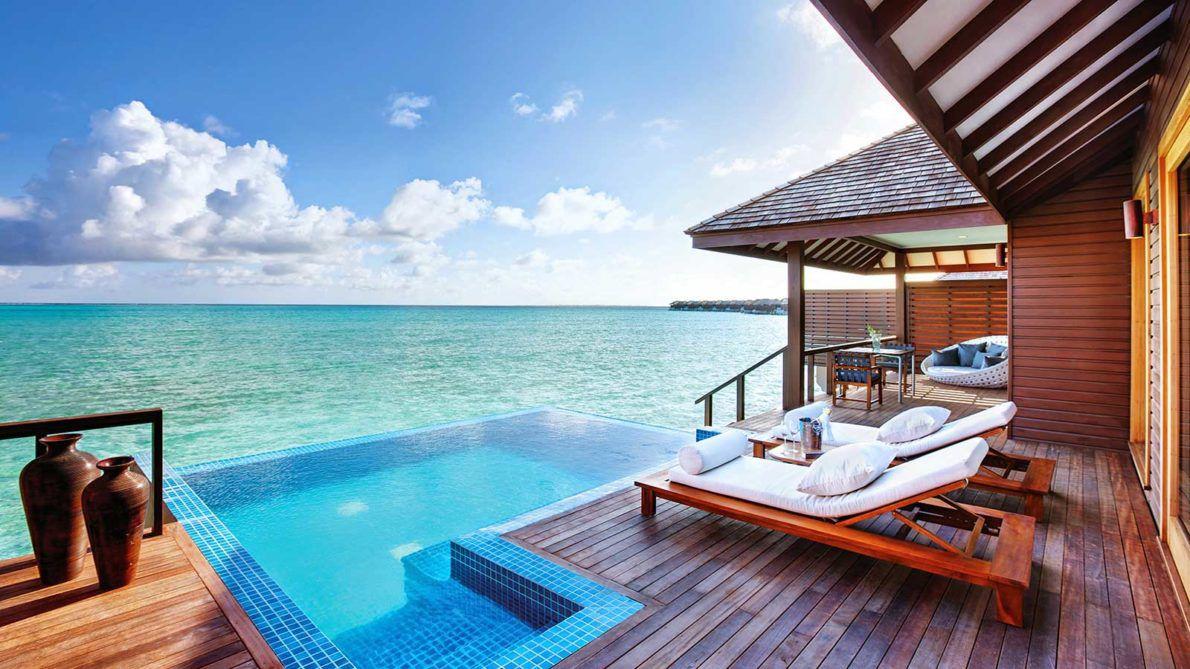 Maldives Resorts - Villas - Deluxe Water Villa with Pool - Hideaway Maldives Beach Resort & Spa