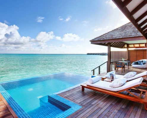 Maldives Resorts - Villas - Deluxe Water Villa with Pool - Hideaway Maldives Beach Resort & Spa