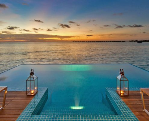 Maldives Ocean Villa - Luxury 2 Bedroom Ocean Pool Villa Maldives - Hideaway Beach Resort