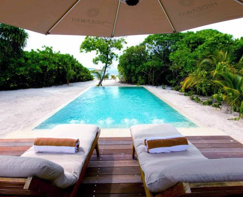 Hideaway Maldives Resort Luxury Villas - Deluxe Sunset Beach Villa with Pool - Hideaway Beach Resort