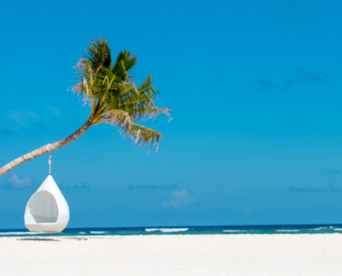Maldives Resorts - Beach - Swing - Hideaway Beach Luxury Villa Resort Maldives