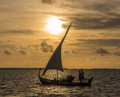Hideaway Maldives excursions sunset bokkura sailing