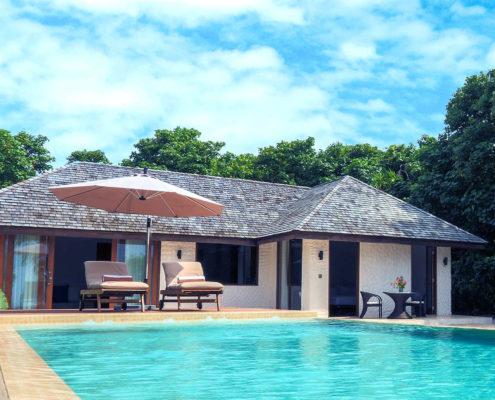 Hideaway Luxury Villas Maldives - Deluxe Sunset Beach villa