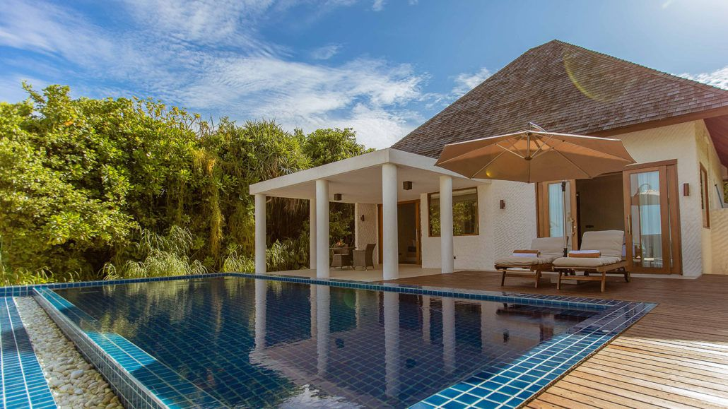 hideaway beach maldives wins award for luxury private pool