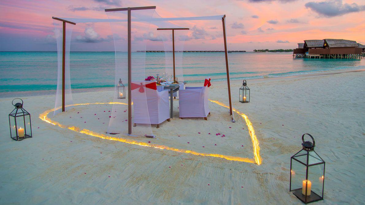 Maldives Resorts - Romantic Dinner - Beach Dinner