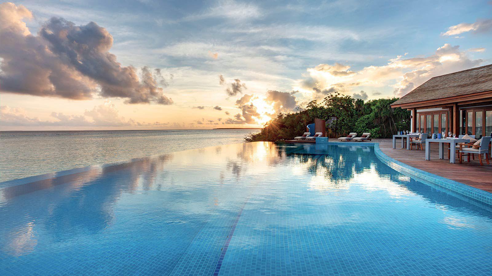 Maldives Infinity Pools Hideaway Beach Resort Spa Maldives