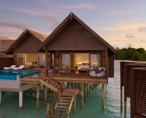 Maldives Resorts - Water Villas - Ocean Villa with Pool - Hideaway Beach Resort