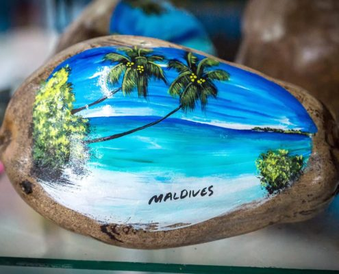 Coconut painting