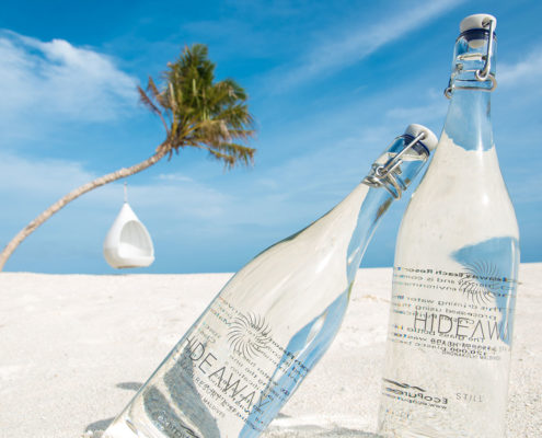 Hideaway bottled water