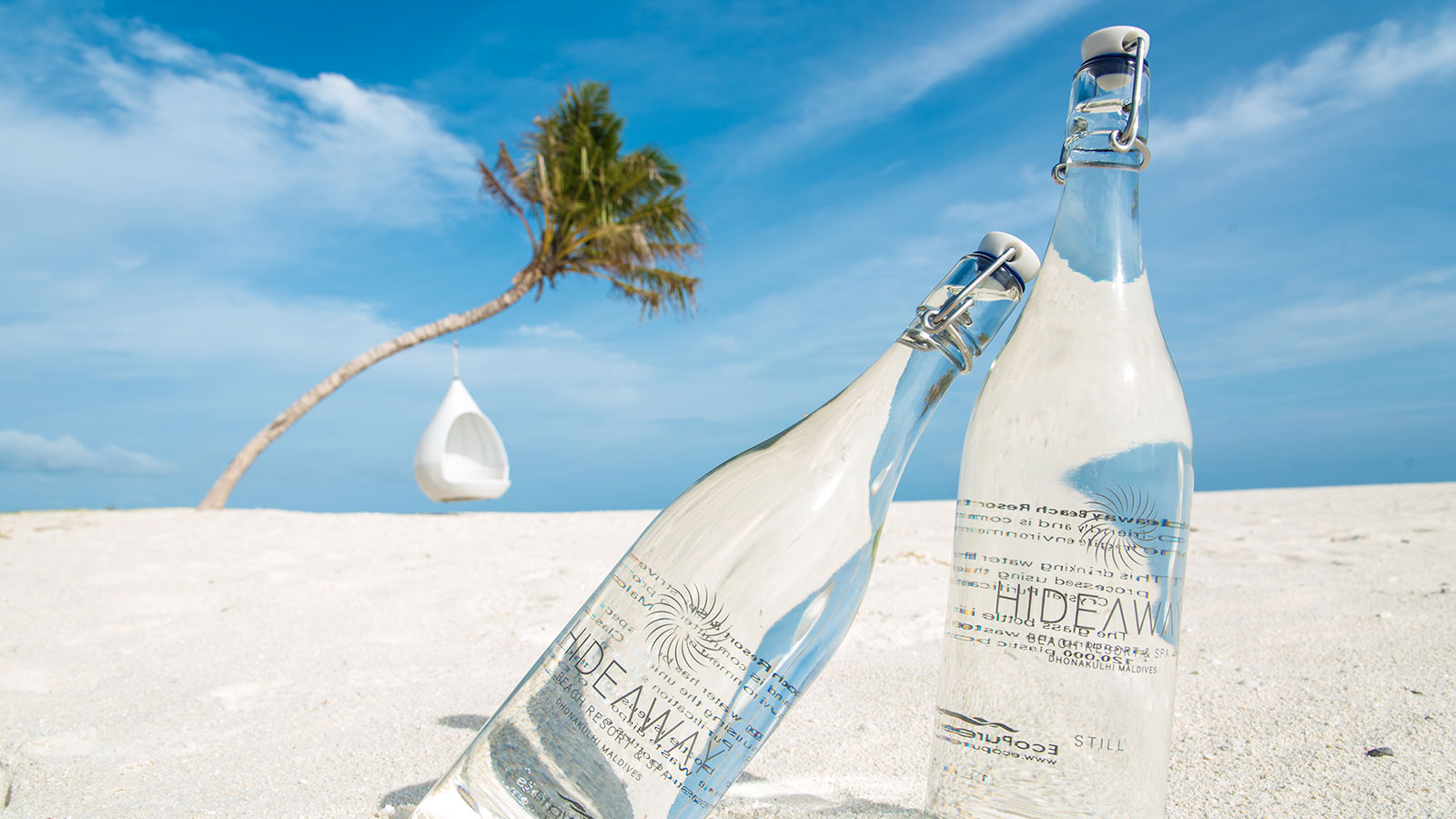 Hideaway bottled water