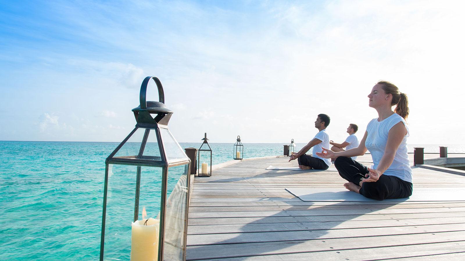 Yoga classes at Hideaway
