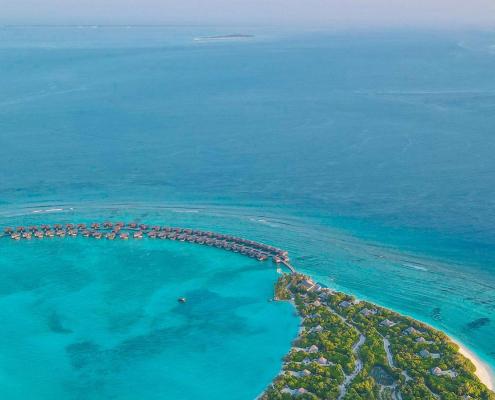 Maldives Flight View